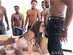 Jules Jordan - Riley Reid interracial group sex