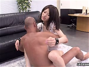 highly super-steamy 3 way screw in the office for the cockslut