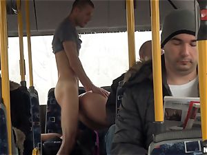 Lindsey Olsen pounds her dude on a public bus