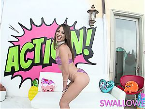 gulped petite Riley Reid has no gag reflex
