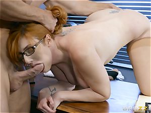 manmeat hungry Lauren Phillips poked in her ginger puss