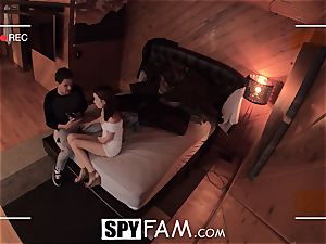 SPYFAM curious Step step-sister spits over fuck-stick images