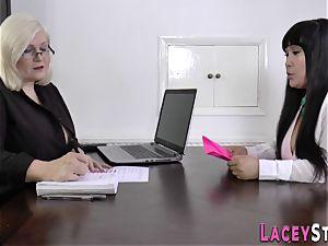 grandma fumbles asians vulva