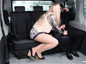 smashed IN TRAFFIC - super-steamy backseat romp with Czech ash-blonde