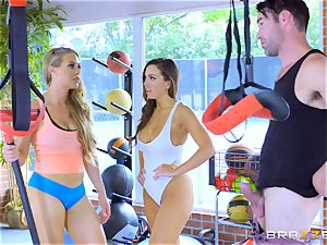 Nicole Aniston and Abigail Mac getting perspiring