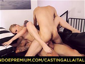CASTNG ALLA ITALIANA - platinum-blonde vixen rough dp lovemaking