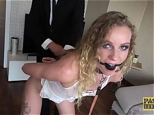 PASCALSSUBSLUTS - Angel Emily deep throated with bondage & discipline man-meat