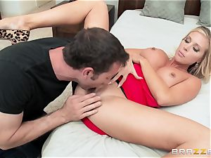steaming wife Samantha Saint humps her husbands bro
