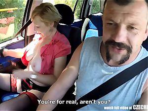 Mirek Takes Mature big-boobed superslut on Public