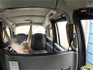 faux cab stellar female in fishnet lingerie