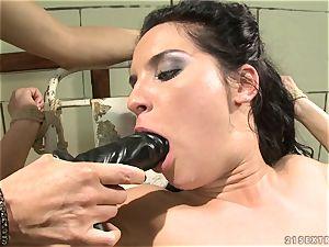 Bettina DiCapri and Mandy Bright fake penis blowing